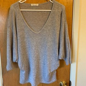 Forever 21 gray 3/4 sleeve sweater